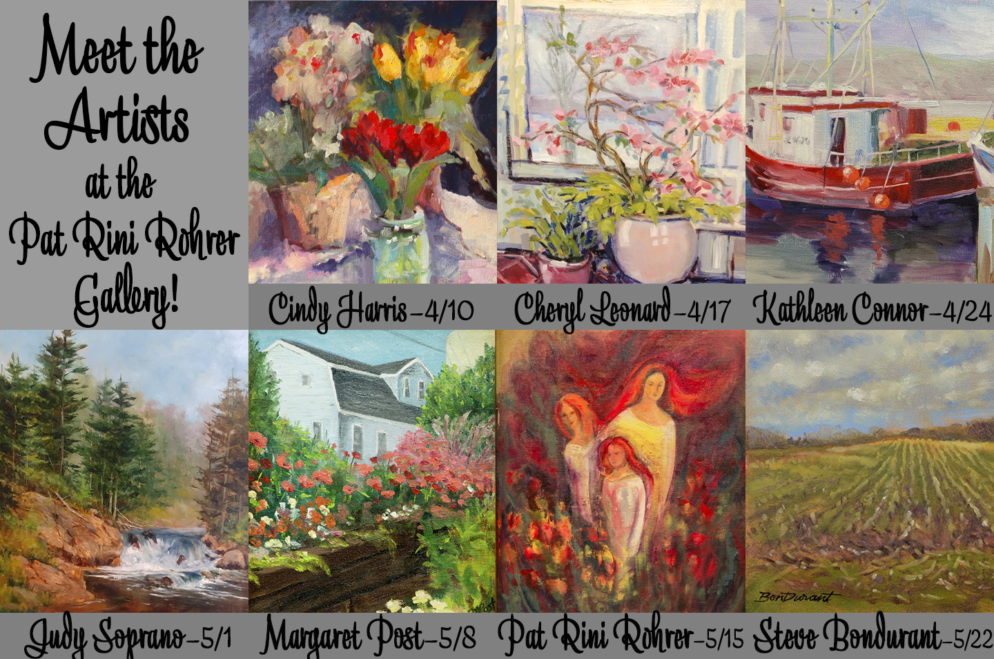 Canandaigua In Bloom at the Pat Rini Rohrer Gallery